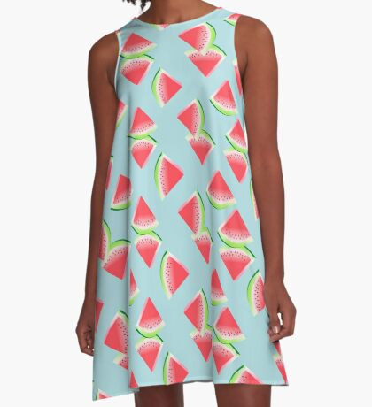 AFE Watermelon Pattern 4 A-Line Dress