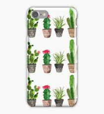 Watercolour Potted Succulents Pattern iPhone Case/Skin