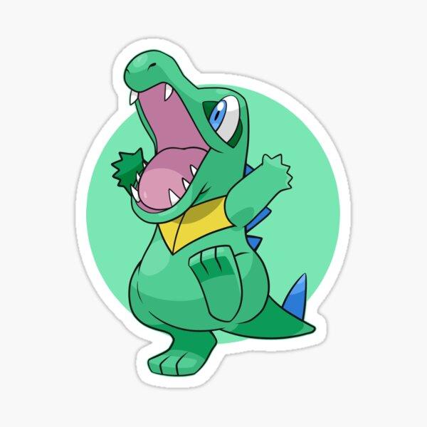 Autocollant de Pokemon Shiny Totodile Sticker
