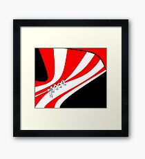 Candy Stripe Laced Corset Framed Print