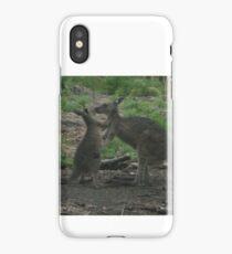 Kangaroos Kissing iPhone Case/Skin