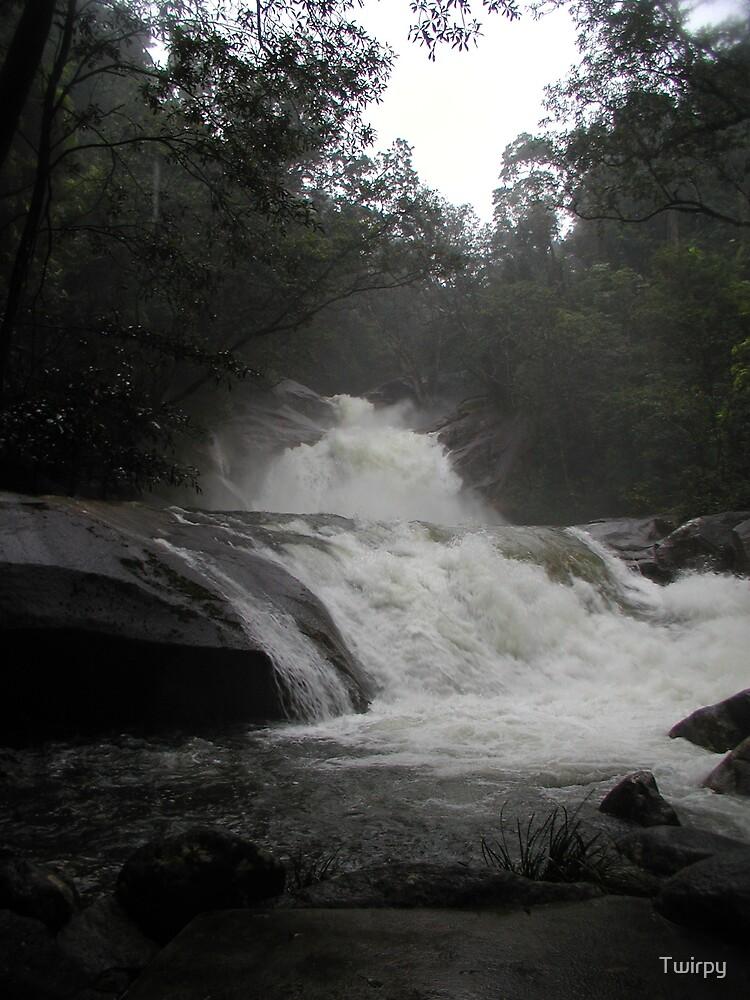 Falls in flood by Twirpy