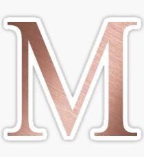 Rose Gold Metallic Mu M Sticker