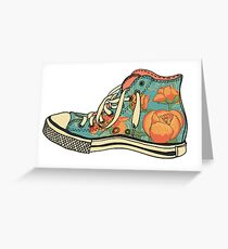 colored pattern gym shoes Greeting Card