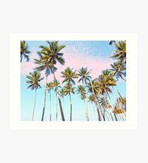 Lámina artística Coconut Palms #redbubble #decor #buyart