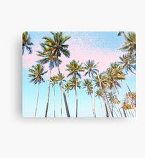 Lámina metálica Coconut Palms #redbubble #decor #buyart
