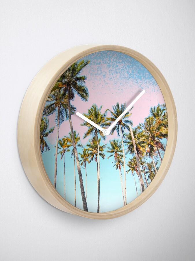 Alternate view of Coconut Palms #redbubble #decor #buyart Clock