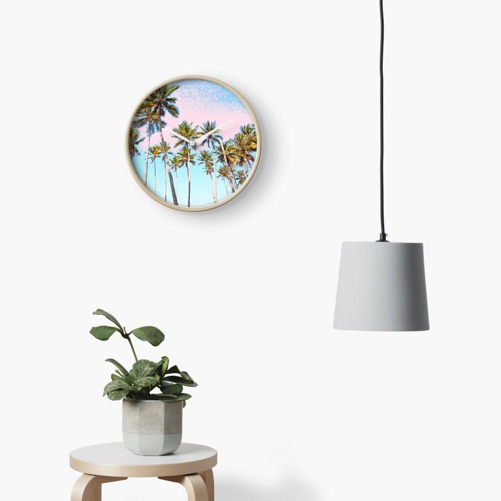 Coconut Palms #redbubble #decor #buyart Clock