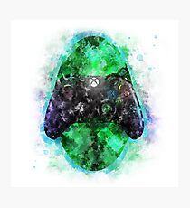 Watercolor Game Controller Photographic Print