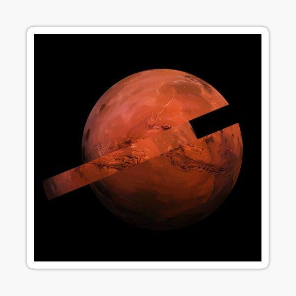 A Slice Of Mars Sticker
