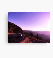 Mile marker in the hills Canvas Print