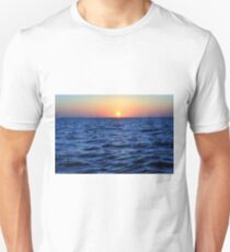 The blue sea at sunset T-Shirt