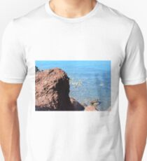Natural background from the red beach in Santorini, Greece  T-Shirt