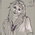 Kate Bush - Digital stylus drawing. 2 by Simon Groves