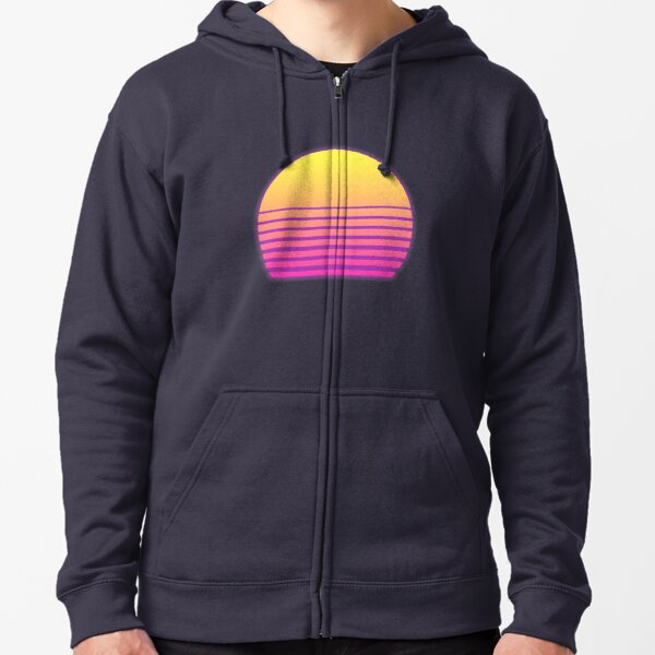 Synthwave Sun Zipped Hoodie