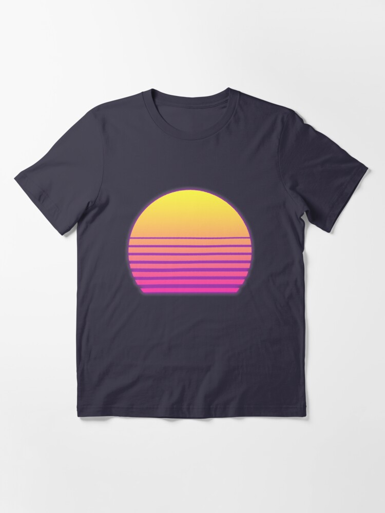 Alternate view of Synthwave Sun Essential T-Shirt