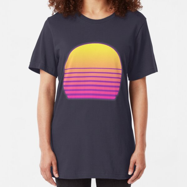 Synthwave Sun Slim Fit T-Shirt