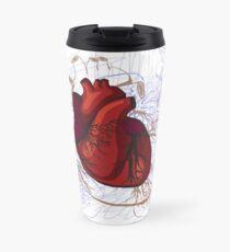 drawing of the heart, anatomical Travel Mug