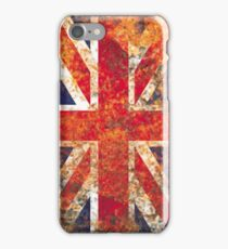 Rusty Metal Texture England Flag iPhone Case/Skin