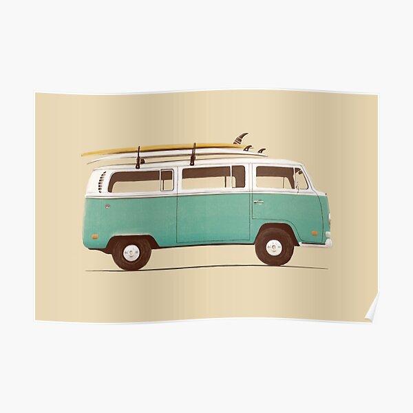 Blue Van Poster
