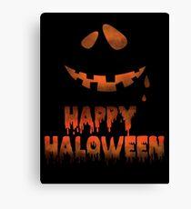 Happy Halloween Evil Smile Canvas Print