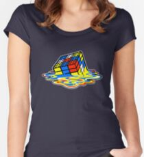 Building the Cube Women's Fitted Scoop T-Shirt