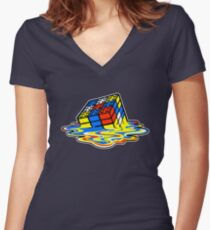 Building the Cube Women's Fitted V-Neck T-Shirt
