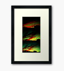 Burning Up Framed Print