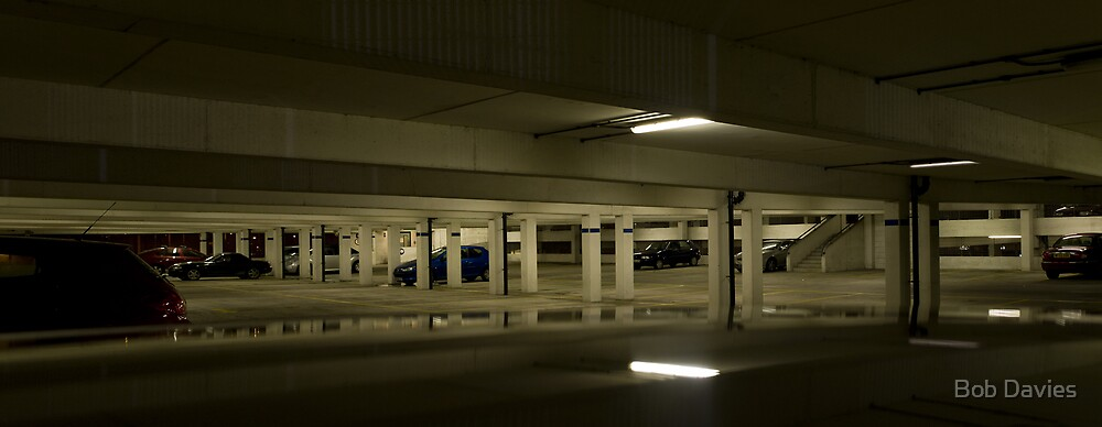 Underground Car Parking Facility at Night by Bob Davies