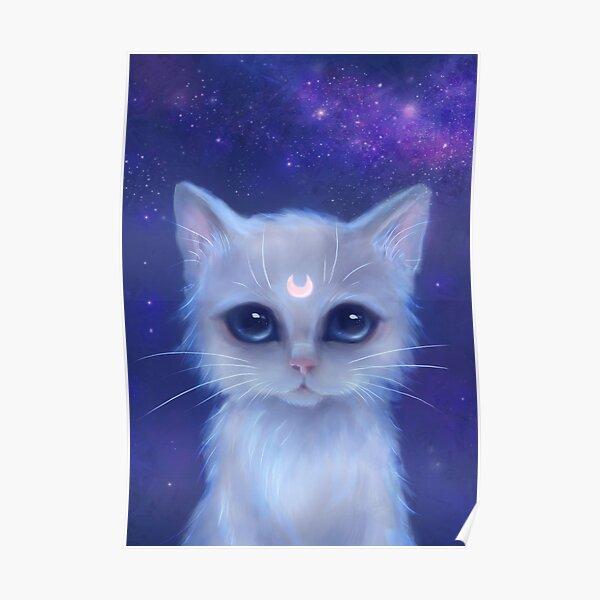 Celestial Kitten Poster