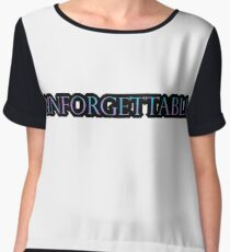 Unforgettable Typography design- Blue/purple Women's Chiffon Top