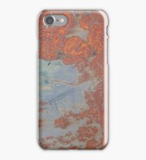 Rusty Metal Texture Blue Painting Remains iPhone Case/Skin