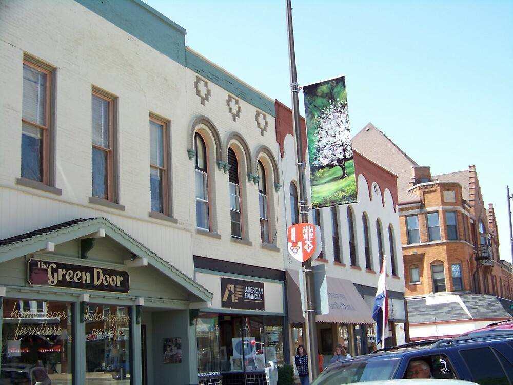Banner on Courthouse Square by Carolyn Bishop