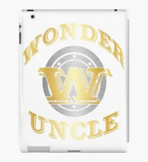 Wonder Uncle T Shirt Gift For Super Uncle On Special Day iPad Case/Skin