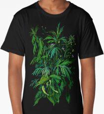 """Green & Black"", summer greenery, floral art, pastel drawing Long T-Shirt"