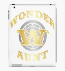 Wonder Aunt Tee Shirt Gift For Super Aunt On Special Day iPad Case/Skin