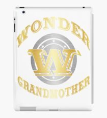 Wonder Grandmother Shirt Gift For Super Gaga On Special Day iPad Case/Skin