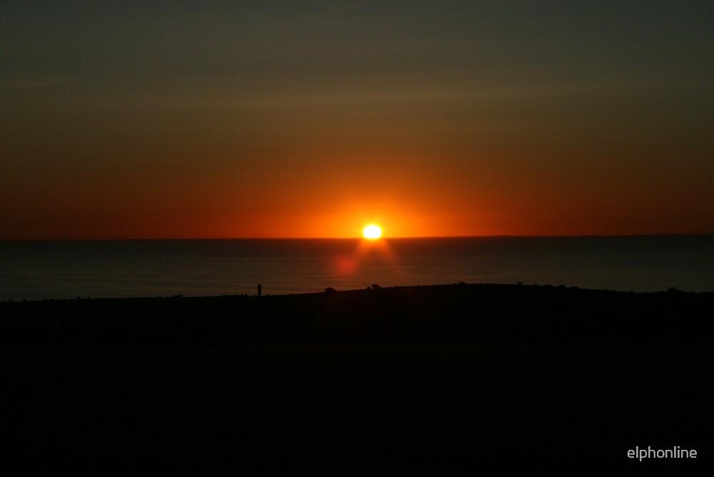 orange sunset by elphonline