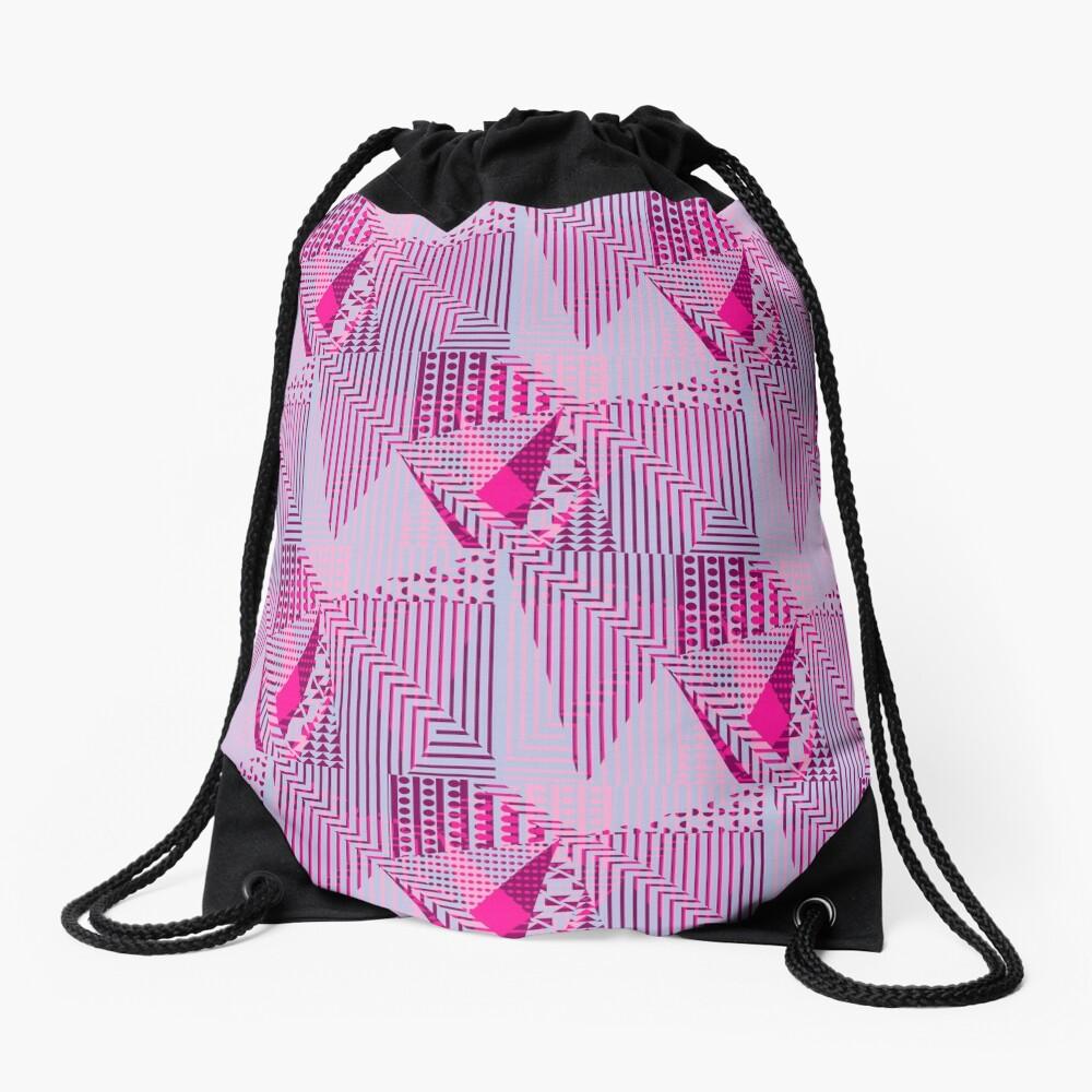Fuchya Drawstring Bag