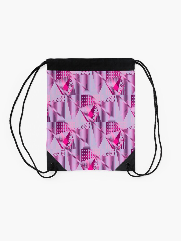 Alternate view of Fuchya Drawstring Bag