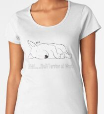 """SHHH..... Bull Terrier at Work!"" Women's Premium T-Shirt"
