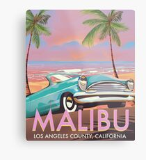 Malibu, Los Angeles, California travel poster Metal Print