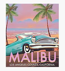 Malibu, Los Angeles, California travel poster Photographic Print