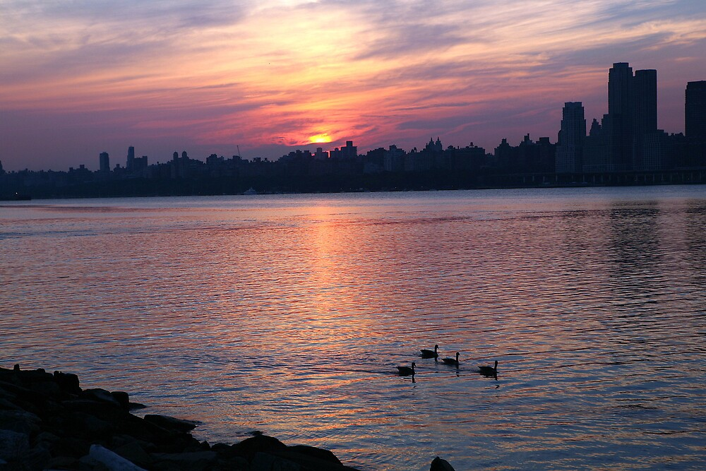 Hudson River Sunrise by pmarella