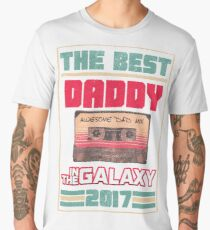 Father's Day Gift Best Daddy in Galaxy 2017 Vintage Men's Premium T-Shirt