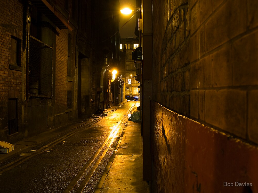 Quot Gloomy Dark Alleyway At Night Quot By Rob Davies Redbubble
