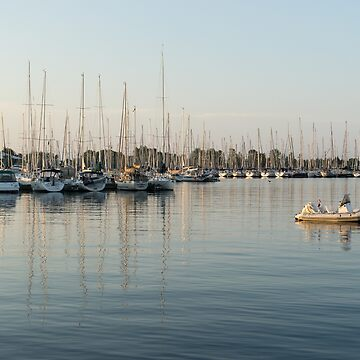 Reflecting on Yachting - Pastel Morning at the Marina by GeorgiaM