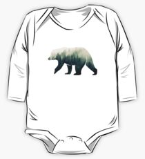 Bear in the Forest One Piece - Long Sleeve