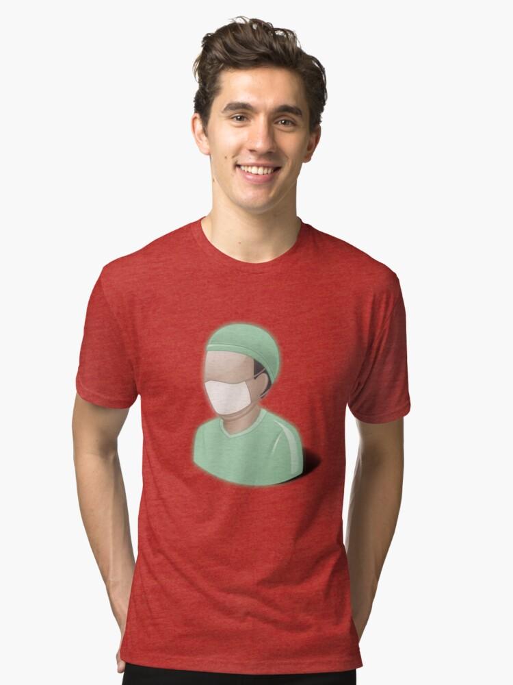 Camisetas de tejido mixto «Cirujano, matorrales, dr, doctor ...