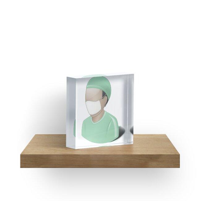 Bloques acrílicos «Cirujano, matorrales, dr, doctor, medicina, gris ...
